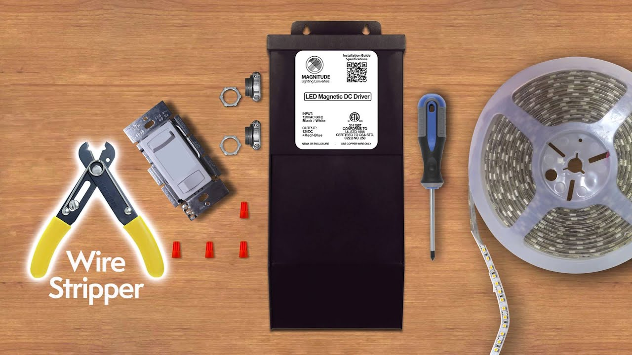 Magnitude 200w 12 Volt Led Driver Installation Guide Youtube Dc Dimmer Wiring Diagram Free Picture