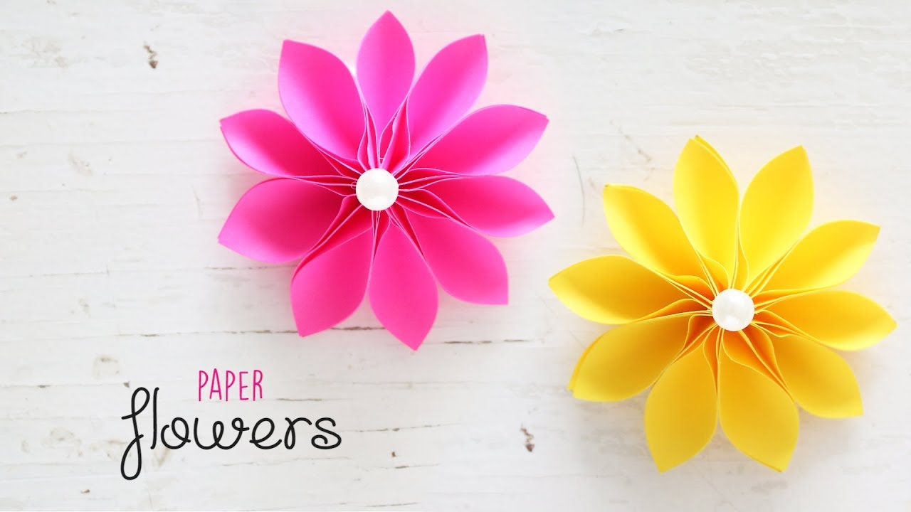 Diy Beautiful And Easy Flowers Paper Crafts Handmade Youtube