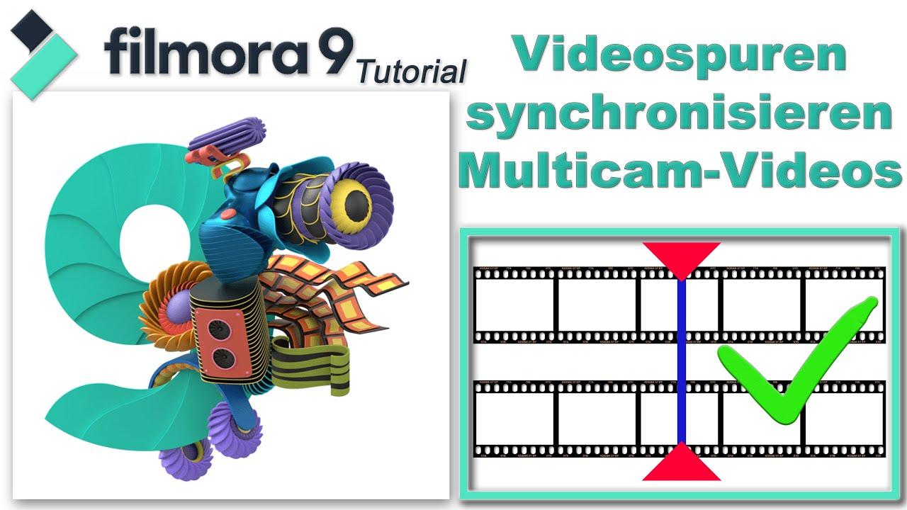 Mehr Videospuren synchronisieren - Multicam  / Filmora9 Tutorial deutsch