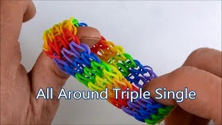 Repeat youtube video How to make the All Around Triple Single bracelet on the Rainbow Loom