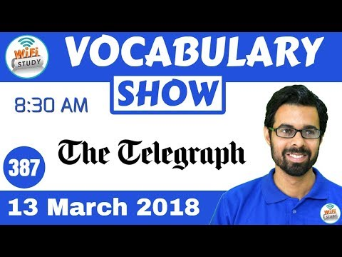 8:30 AM -The Telegraph Vocabulary with Tricks (13th March, 2018) | Day- 387