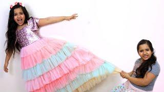 शफ़ा और उसकी जुड़वाँ एक जैसी ड्रेस चाहती है।