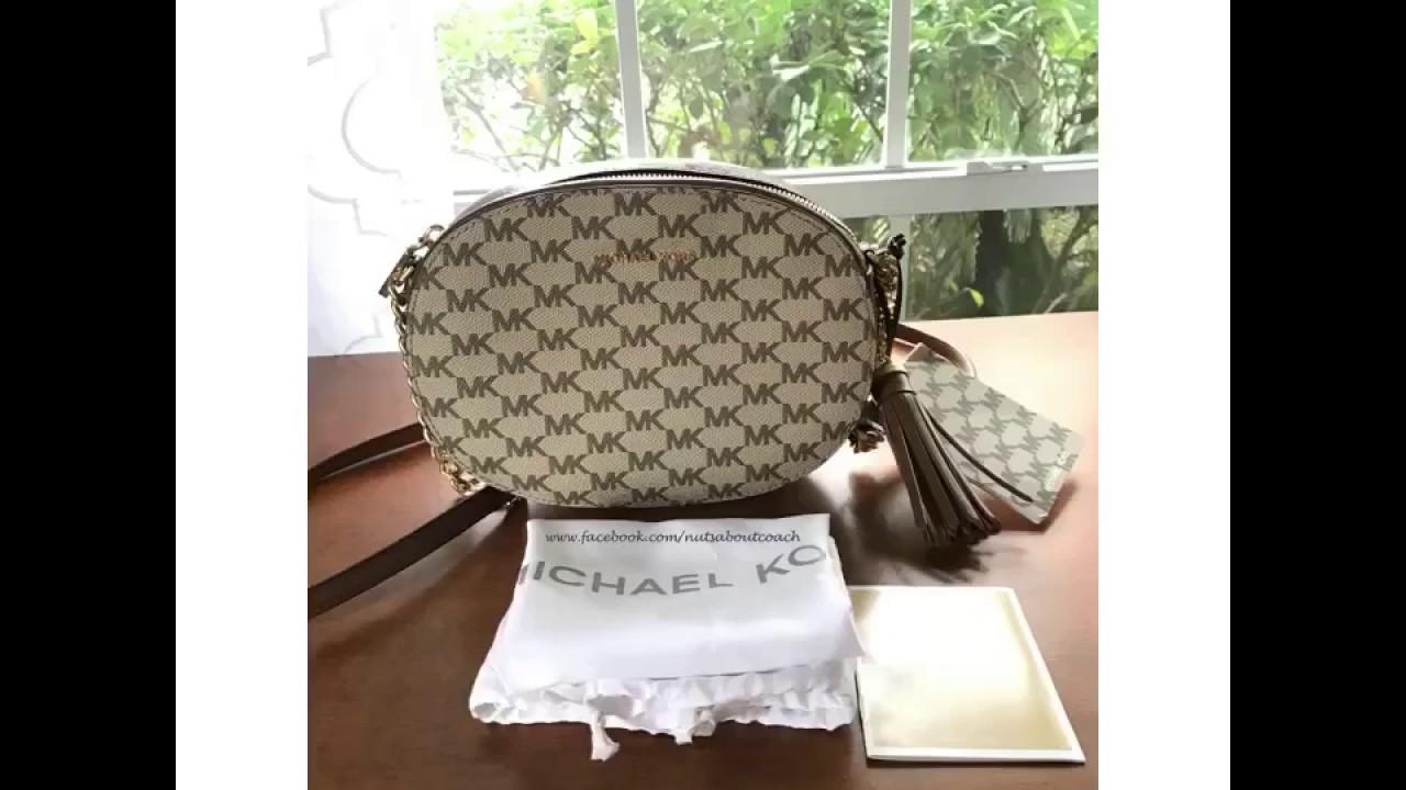 5daac924935 MICHAEL Michael Kors Ginny Medium Messenger-NATURAL/BROWN