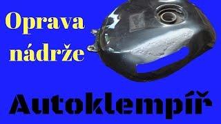 Oprava nádrže na motorku(Repairing the tank on the motorbike)