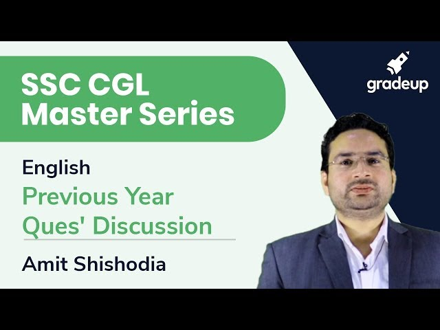SSC CGL Master Series | English | Previous Year Question Discussion