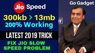 200% Original Trick to INCREASE JIO INTERNET SPEED 300kb to 13mb 500% Working Method