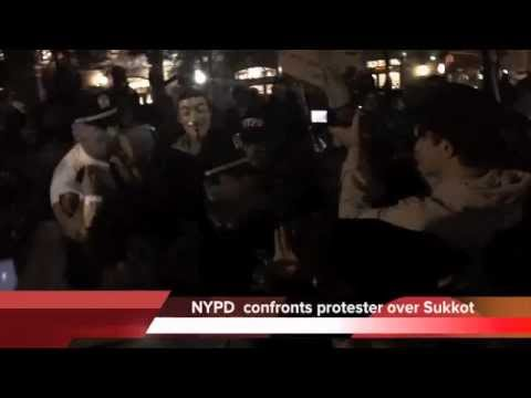 NYPD butt heads with Occupy Wall Street protesters on Jewish Holiday