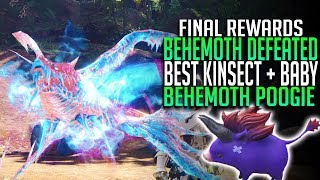 DRAGON SOUL KINSECT + BABY BEHEMOTH POOGIE! BEHEMOTH DEFEATED! Monster Hunter World DLC