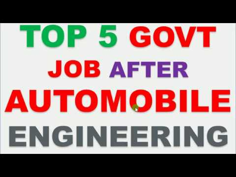 TOP 5 GOVT JOB AFTER AUTOMOBILE ENGINEERING