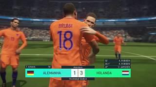 Alemanha x Holanda PES 2018