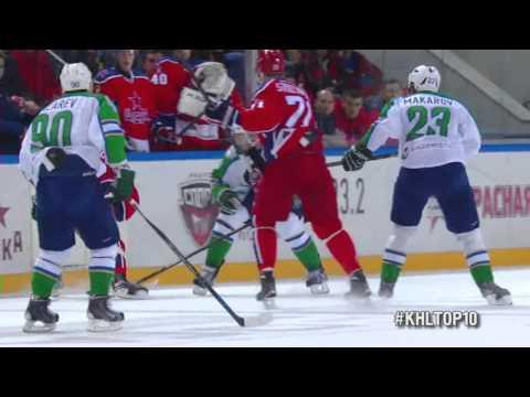 Top 10 First Half KHL Hits / Лучшие силовые приемы первой половины сезона КХЛ