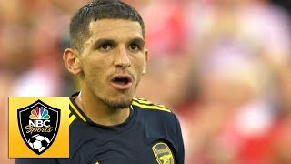 Lucas Torreira gets Arsenal on the board v. Liverpool | Premier League | NBC Sports