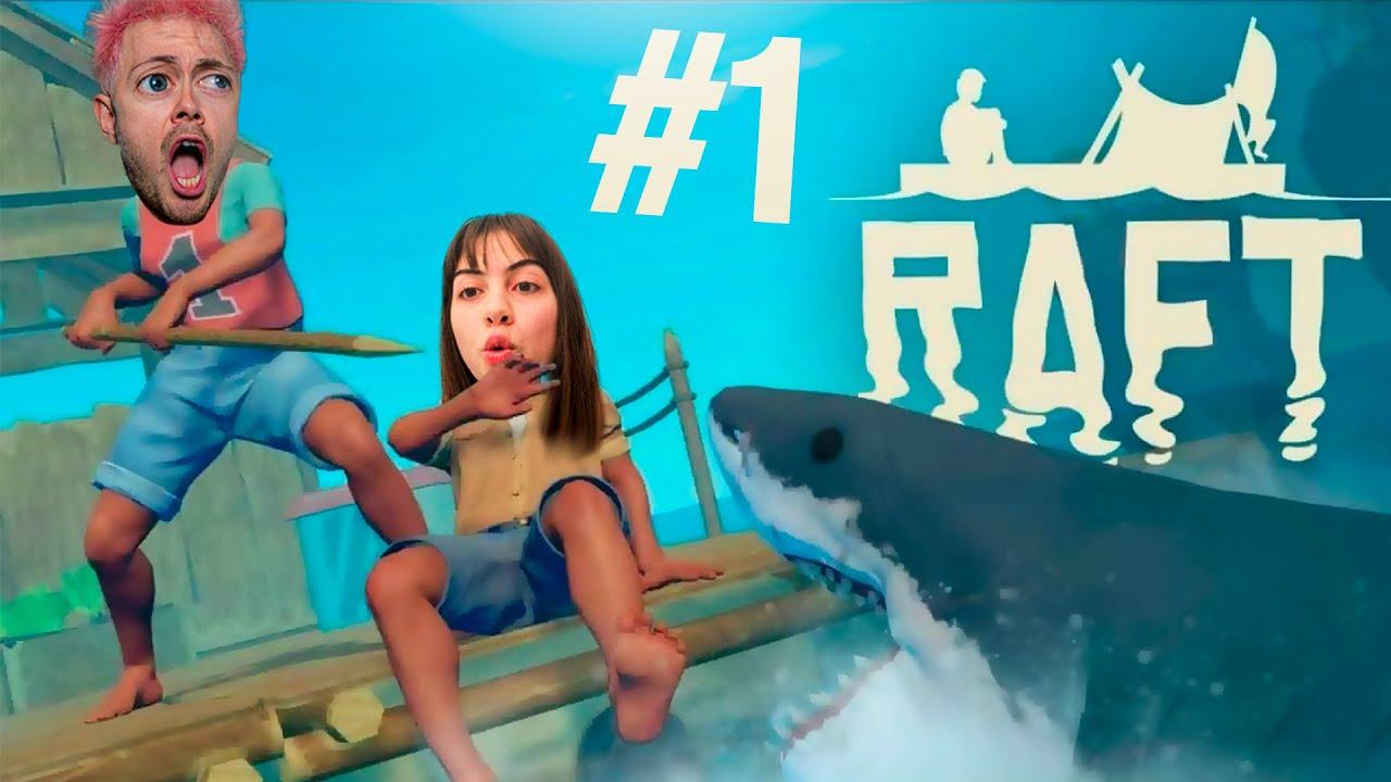 NUEVA SERIE CON ANDREA! LOS COMIENZOS SON DIFICILES... #1 | Raft