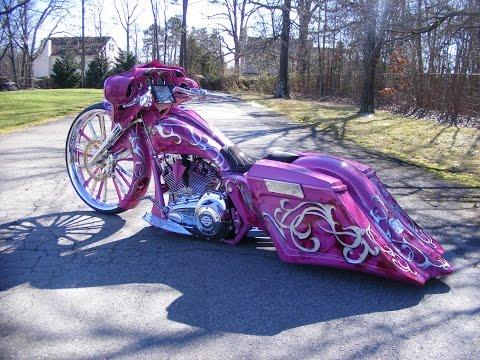 Jennifer's 30 inch bagger Custom Cycles LTD street glide Harley Davidson