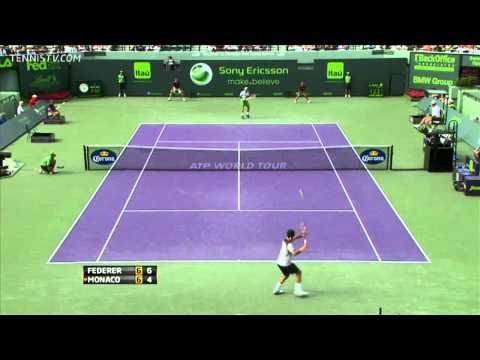 Federer vs. Monaco - R3 - Miami 2011 - HD