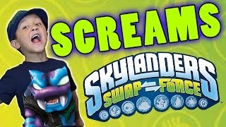 Skylanders Swap Force Screams Collection (How Skylander Boy Lost his Voice) + Update