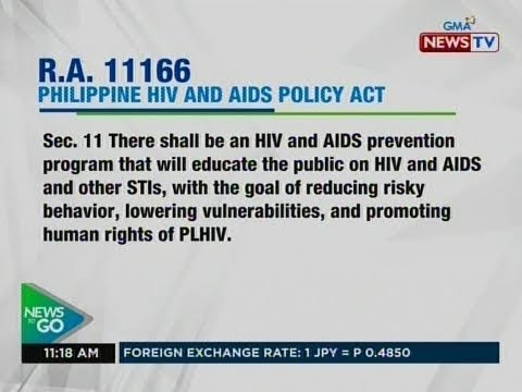 NTG: Philippine HIV and aids policy act, pirmado na ni Pang. Duterte