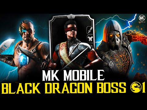 MK MOBILE BLACK DRAGON TOWER FIRST BOSS FIGHT! CAN A SILVER CARD FINISH THE TOWER?