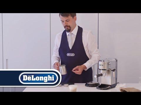 How to make a cappuccino with delonghi espresso machine