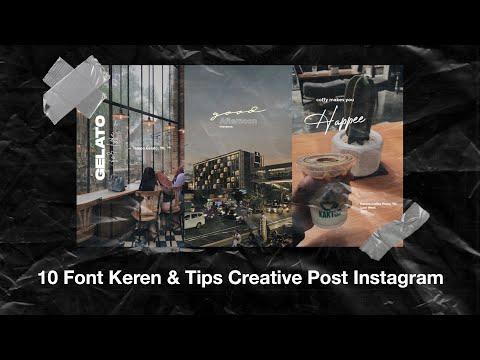 10 Font Keren U0026 Tips Untuk Creative Post Tipografi Instagram