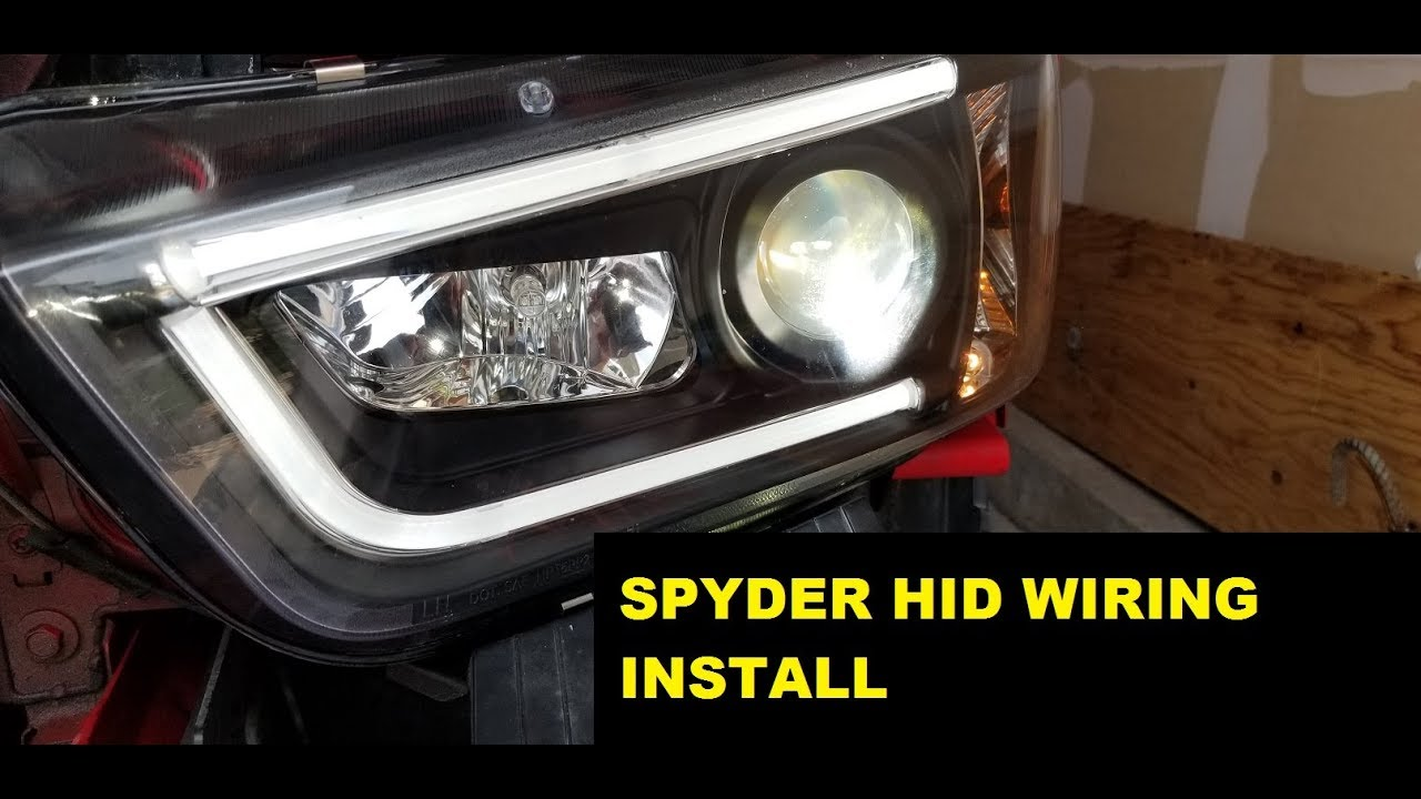 spyder auto factory hid wiring harness install 11 14 dodge charger [ 1280 x 720 Pixel ]