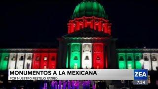 Monumentos alrededor del mundo se iluminan con los colores de México | Noticias con Francisco Zea