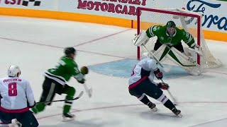 Orlov pulls backhand drag move to fool Klingberg & score