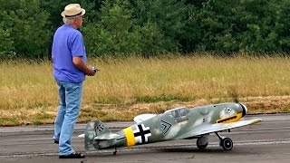 ME-109 BF-109 BIG SCALE RC WARBIRD OLDTIMER MODEL / RC Meeting Berlin Gatow 2015