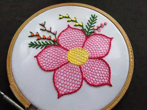 Hand Embroidery - Honeycomb Stitch Embroidery