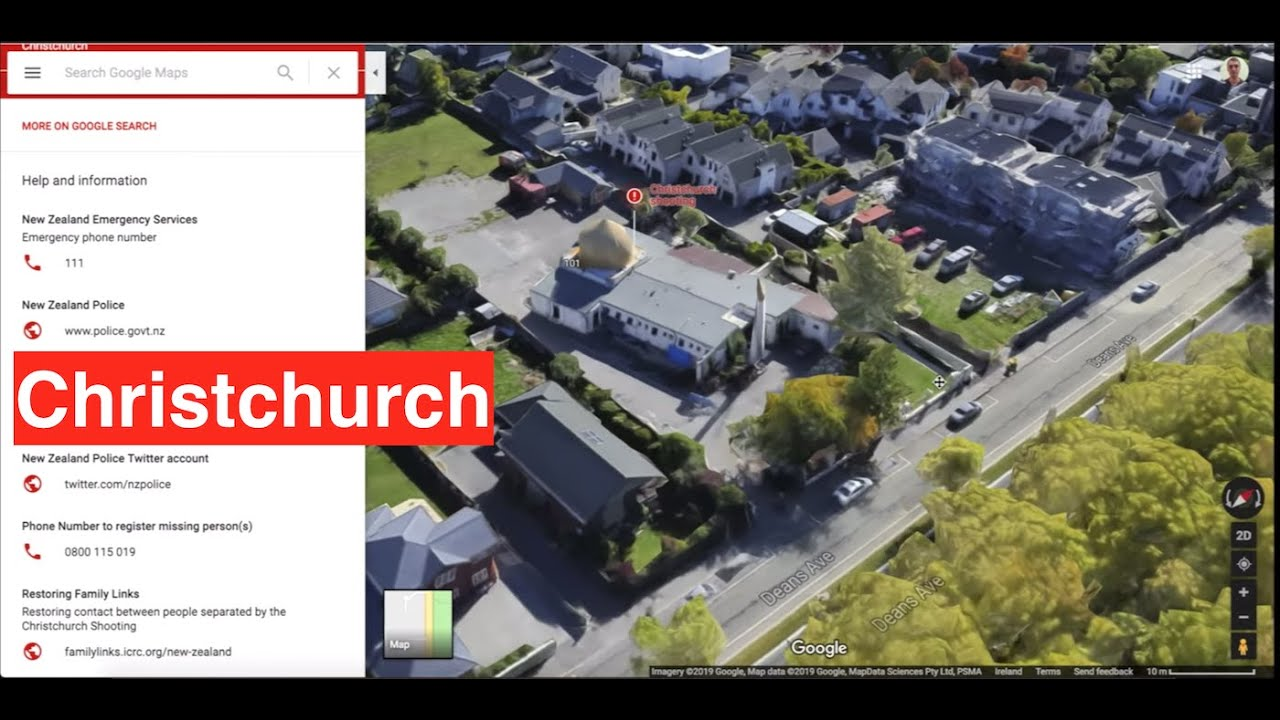 Google Map Of New Zealand.Christchurch Shooting On Google Maps 15 03 19 New Zealand Terror Attack At Mosques In Christchurch