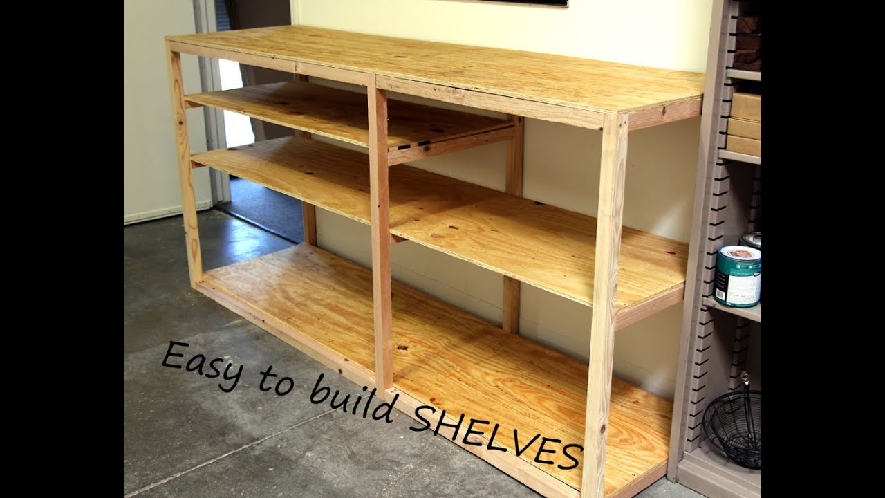 building wood shelves for garage attached to studs | New Woodworking ...
