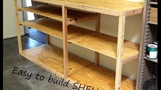 Diy Shop Or Garage Shelf For Storage And Organization.   Kreg Pocket Hole Project.