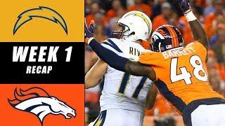 Broncos vs Chargers Recap Week 1 2017