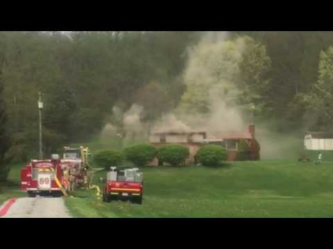 House fire in Allegheny Township