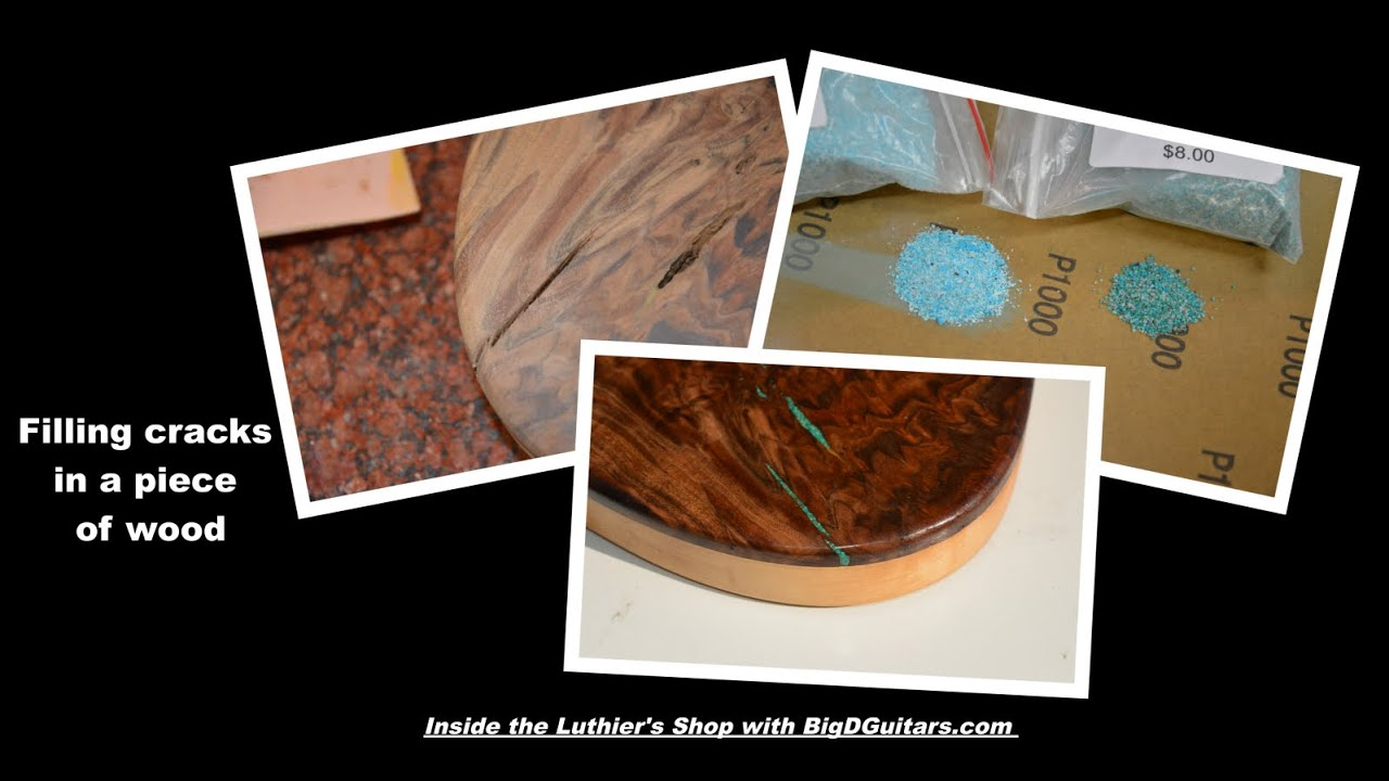 Filling Gaps In Wood Using Turquoise Inlay With Sand And