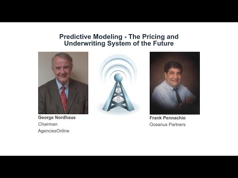 2-3 Minute 'I' Opener: Predictive Modeling - The Pricing and Underwriting System of the Future