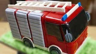 Feuerwehr Torte I Motivtorte I Fondanttorte I How to make a Fire Truck Cake