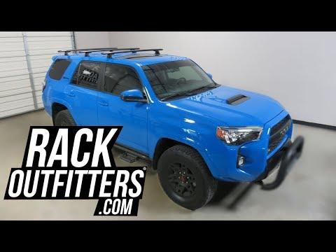 Toyota 4 Runner TRD PRO with Rhino Rack Vortex 3 Bar Roof Rack on RTS Tracks