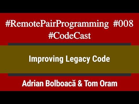 #RemotePairProgramming Ep 008: Adi & Tom - Improving Legacy Code
