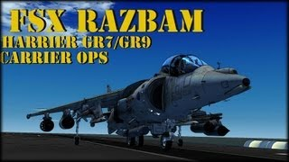 FSX Razbam Harrier GR7/GR9 Carrier OPS