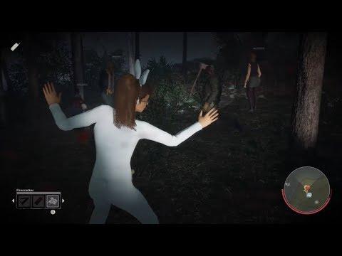 Friday the 13th Game Deborah Kim Gameplay Blue Bunny Halloween Crystal Lake Part VI Jason Voorhees