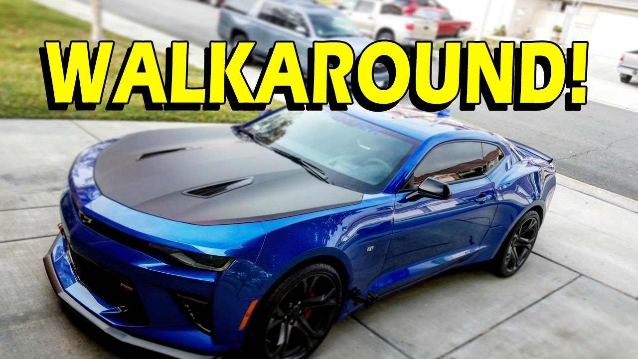 Camaro 1le Walkaround 2017 Hyper Blue Youtube