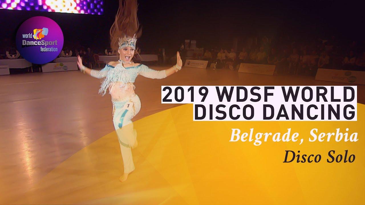2019 WDSF World Disco Dance - Femke Goovaerts | Disco Solo Final