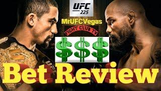 UFC 225 Whittaker vs Romero - Bet Review