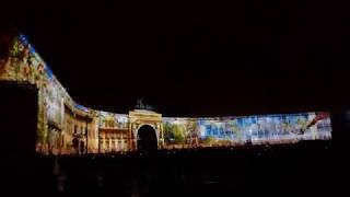 Санкт-Петербург, световое шоу, Триумфальная арка, Зимний Дворец, Дворцовая площадь