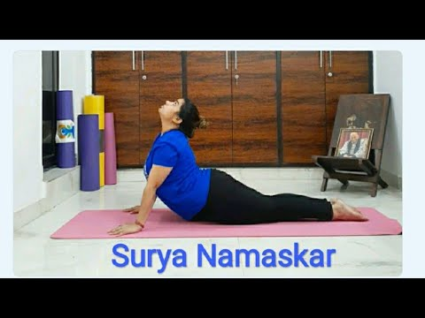 surya namaskar  practice for beginners/poonam yogasana