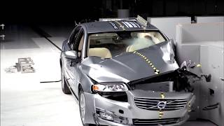 2018 Volvo S80 driver side small overlap crash test