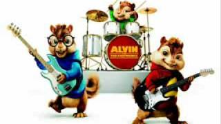 chipmunks singing white and nerdy with lyrics