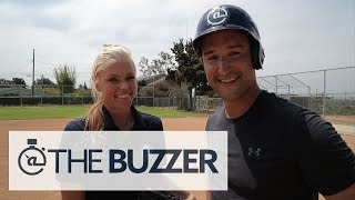 Jennie Finch Makes Our Host Look Silly On 3 Pitches - @TheBuzzeronFOX
