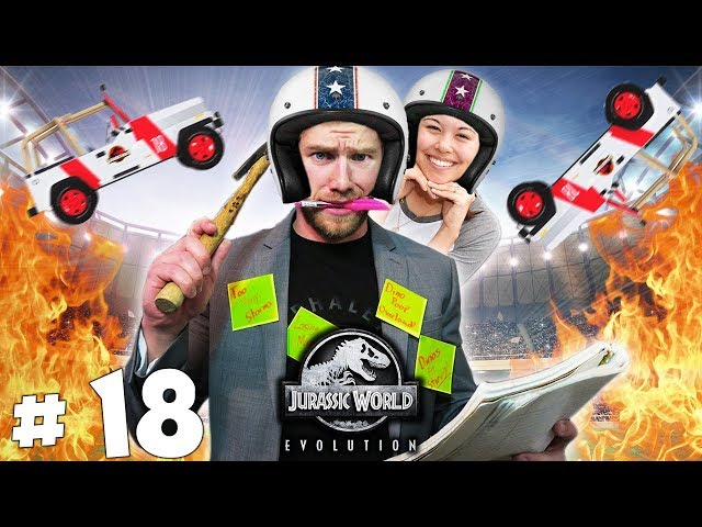 EPIC STUNTS - Part 18 - Lets Play Jurassic World Evolution